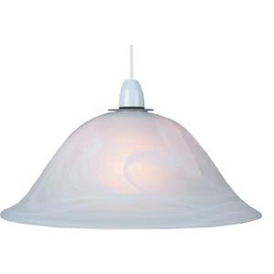 White Alabaster Glass Easy Fit Pendant Shade Or Floor Lamp Shade By Happy Homewares 13mgpw, White