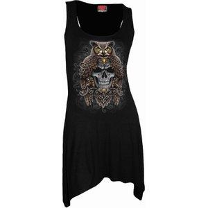 Spiral Death Wisdom Goth Bottom Camisole Dress Black L047f105 6, Black