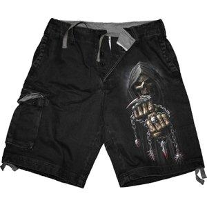 Spiral Game Over Shorts Vintage Cargo Shorts Black T031m701 7, Black