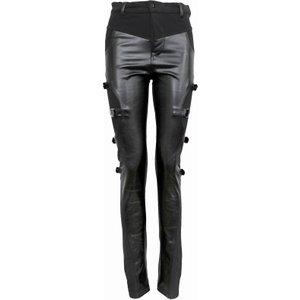 Spiral Gothic Rock Biker Pvc Panel Buckle Trousers Black P002g461 3, Black