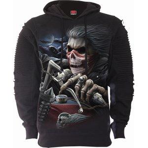 Spiral Soul Rider Premuim Biker Fashion Mens Hoodie Black T169m475 4, Black