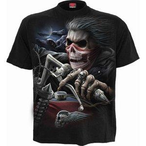 Spiral Soul Rider T-shirt Black T169m101 6, Black