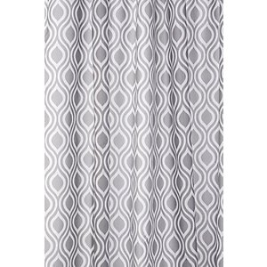 Croydex Shower Curtain - Grey Patterned