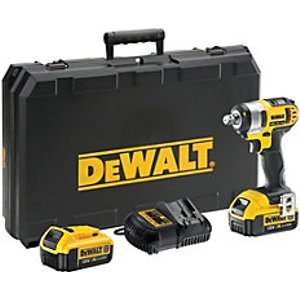 Dewalt 18v Dcf880m2-gb Xr Cordless Compact Impact Wrench With 2 X 4.0ah Batteries Charger