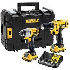Dewalt Dck218d2t-gb 10.8v Xr Cordless Combi Drill And Impact Driver Twin Pack