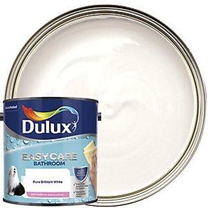 Dulux Easycare Bathroom - Pure Brilliant White - Soft Sheen Emulsion Paint 2.5l