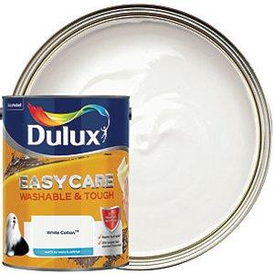 Dulux Easycare Washable & Tough - White Cotton - Matt Emulsion Paint 5l