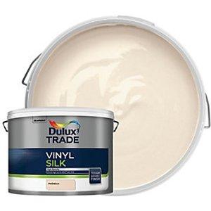 Dulux Trade Vinyl Silk Emulsion Paint - Magnolia 10l