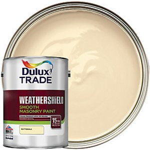 Dulux Trade Weathershield Smooth Masonry Paint - Buttermilk 5l