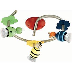 Eglo Childrens 3 Lamp Animal Spot Light Ring - Gu10