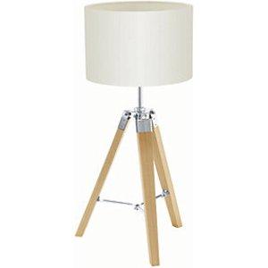 Eglo Lantada Tripod Wood Table Lamp Beige - 60w E27