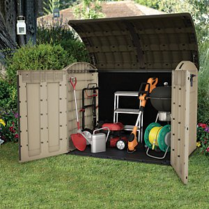 Keter Store It Out Ultra Large Garden & Bike Storage Shed Beige & Brown - 6 X 4ft