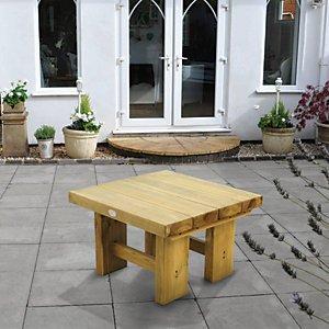 Forest Garden Low Level Sleeper Garden Table - 700mm