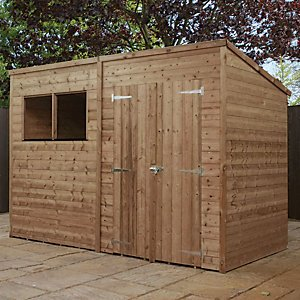 Mercia 10 X 6 Ft Pressure Treated Pent Shed With Assembly
