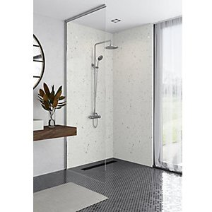 Mermaid Panels Mermaid Elite Quartzo Bianco 2 Sided Shower Panel Kit - 1200 X 900mm