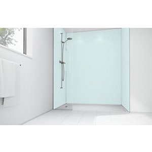 Mermaid Mint Matt Acrylic 3 Sided Shower Panel Kit 1200mm X 900mm