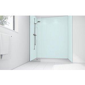 Mermaid Mint Matt Acrylic Single Shower Panel 2440mm X 600mm
