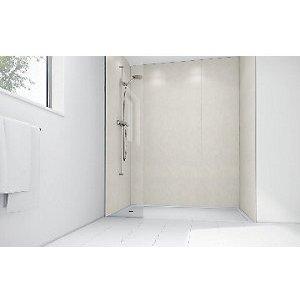 Mermaid Pearl Gloss Laminate 3 Sided Shower Panel Kit 1700mm X 900mm