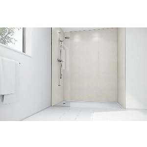 Mermaid Pearl Gloss Laminate Single Shower Panel 2400mm X 585mm