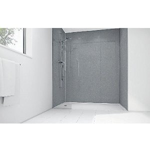 Mermaid Silver Diamond Acrylic Single Shower Panel 2400mm X 900mm