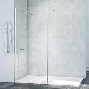 Nexa By Merlyn Frameless Swivel Shower Panel Chrome-2015 X 300mm