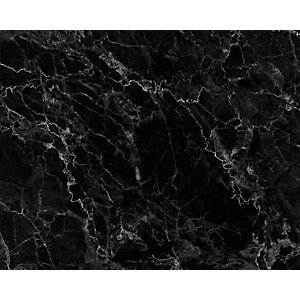 Ohpopsi Black Marble Wall Mural - L 3m (w) X 2.4m (h)