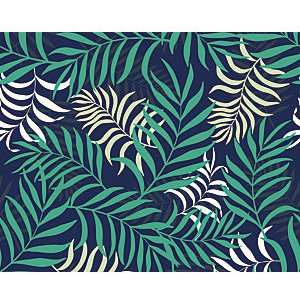 Ohpopsi Exotic Jungle Leaves Wall Mural - L 3m (w) X 2.4m (h)