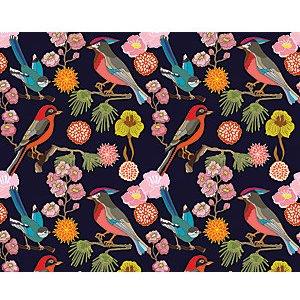 Ohpopsi Floral Birds Wall Mural - Xl 3.5m (w) X 2.8m (h)