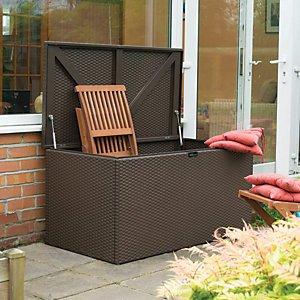 Rowlinson 1 X 2 Ft Anthracite Galvanised Steel Garden Storage Box