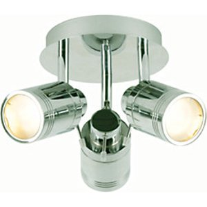 Spa Scorpius Chrome Treble Ceiling Spotlight - 105w