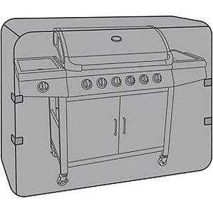 Charles Bentley Waterproof Xl 6 To 7 Burner Gas Bbq Cover Black