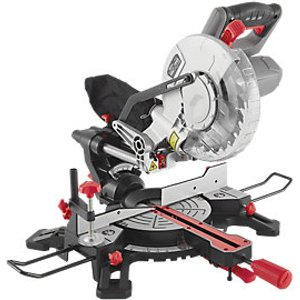 Wickes 210mm Sliding Compound Mitre Saw With Laser Guide - 1500w