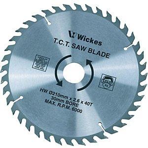 Wickes 40 Teeth Medium Cut Circular Saw Blade - 210 X 30mm