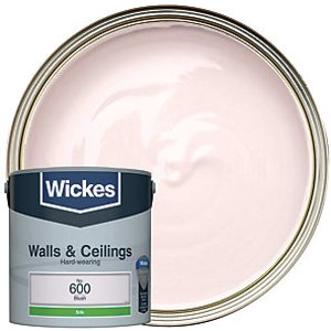 Wickes Blush - No. 600 Vinyl Silk Emulsion Paint - 2.5l