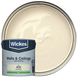 Wickes Champagne - No. 405 Vinyl Silk Emulsion Paint - 2.5l