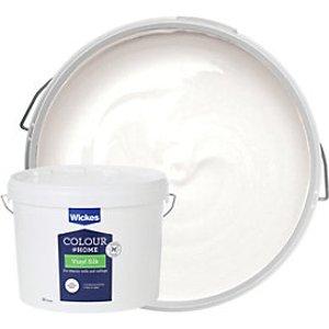 Wickes Colour @ Home Vinyl Silk Emulsion Paint - Brilliant White 10l