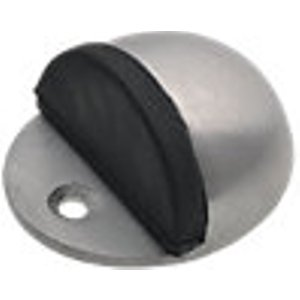 Wickes Floor Mounted Oval Door Stop - Aluminium 44mm