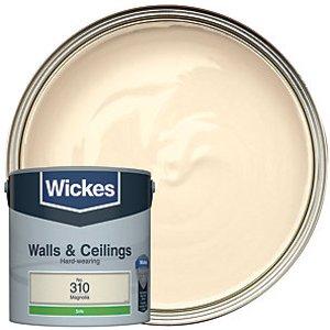 Wickes Magnolia - No. 310 Vinyl Silk Emulsion Paint - 2.5l