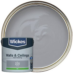 Wickes Pewter - No. 220 Vinyl Silk Emulsion Paint - 2.5l