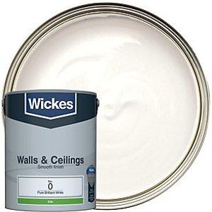 Wickes Pure Brilliant White - No. 0 Vinyl Silk Emulsion Paint - 5l