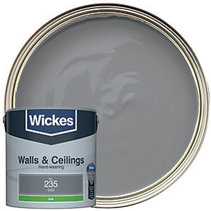 Wickes Slate - No. 235 Vinyl Silk Emulsion Paint - 2.5l