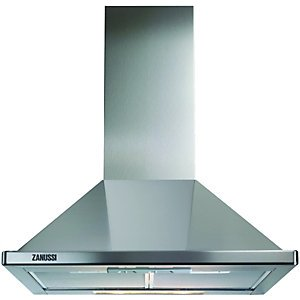 Zanussi 60cm Stainless Steel Chimney Cooker Hood Zhc60136x