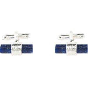 Latelita Cylindrical Cufflink Silver Blue Lapis Lazuli 27407472321