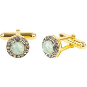 Latelita Diamond Gemstone Cufflink Emerald Gold 27711375605865