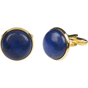 Latelita Round Cabochon Cufflink Gold Lapis Lazuli 38010176257