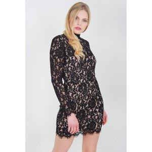 Black Long Sleeve Lace Dress - 8 Katch Me