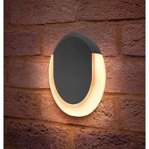 Integral Led Wall Light 13w Lunox Mini Warm White Ildea005 Dark Grey Lighting, Dark Grey