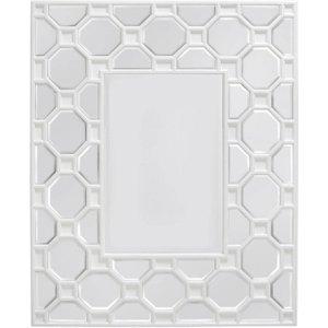 Cimc Rueben White Geometric Wood Wall Mirror Mr151 M0 Wh