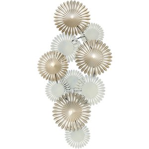 Cimc 115cm Abstract Metal Wall Art Gold And Ivory / Ivory Wa133 00 Gdiv, Ivory