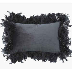 Cimc 30 X 50 Black Feather Edge Cushion Cu573 M0 Bl F